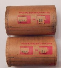 2x $20 SILVER DOLLAR ROLL - MORGAN PEACE DOLLAR MIXED DATES COVERED END COINS 28