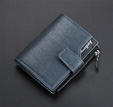 Stylish Mens Leather credit Card holder Clutch Trifold Wallet Coin Purse Pockets