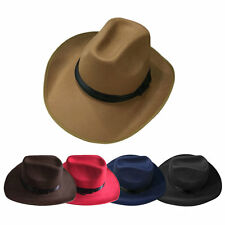 Adjustable Rope Male Female Western Style Caps New Cowboy Cowgirl Hats SG