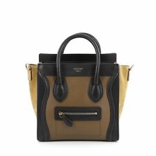 Celine Bicolor Luggage Handbag Smooth Leather Nano