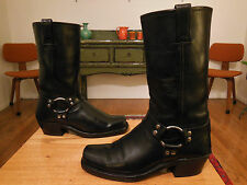 Vtg FRYE Women's Black Leather Harness, Urban Hipster Style 77300 Boots 9M USA