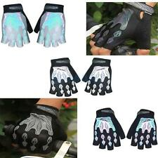 Outdoor Sports Gym Bike Bicycle Riding Gel Padded Reflective Half Finger Gloves