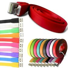 UNIVERSAL FLAT COLOURFUL DATA/SYNC MICRO USB CABLE FOR MOBILE PHONES, TABLETS