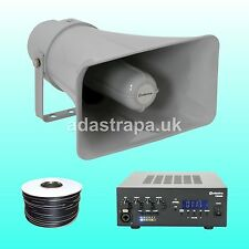 """Adastra 60W Outdoor Event PA Public Address System 10"""" X 6"""" 15W rms Horns"""
