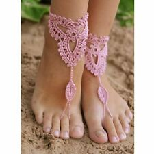 Dance Wedding Beach Crochet Barefoot Anklet Knit Anklet Foot Jewelry Sandals