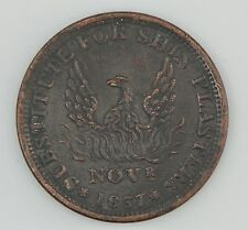 """1837 Hard Times Token """"Specie Payments Suspended""""/Shin Plasters *Z00"""