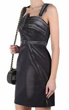 MOSCHINO Couture X Jeremy Scott Cartoon Black Pencil Dress with Shoulder Bow