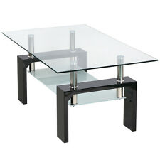 New Lift Up Top Glass Top & Chrome Living Room Coffee Table With Lower Shelf
