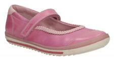 Clarks EPSIE PLAY Rose Pink Leather Girls Riptape Shoes 7 - 12.5 FG Fit BNIB