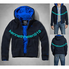 NWT ABERCROMBIE & FITCH MENS ADAMS MOUNTAIN HOODIE JACKET NAVY SIZE SMALL A&F