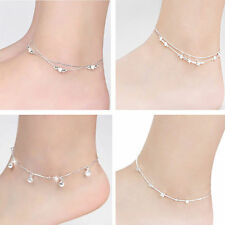 Hot Women Anklet Silver Plated Chain Bracelet Barefoot Sandal Beach Foot Jewelry