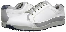 FootJoy Mens 54204 Contour Casual Spikeless Golf Shoes Leather White Gray NEW