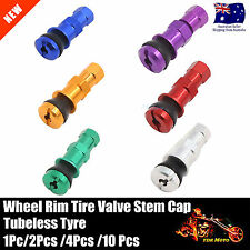 Bolt-in Aluminum Car Tubeless Wheel Tire Valve Stems With Dust Cap Blue Red Gold