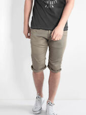 883 Police Mens Mitzi Stone Shorts With Back Pockets Casual Summer Pants