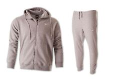 Nike Men's Fleece Full Zip Tracksuit Hooded Top & Jogging Bottoms Grey Size S-XL