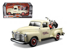 1950 Chevrolet 3100 Pickup Truck Harley Davidson 1/25 With 2001 FLSTS Heritage