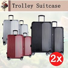 2pcs Luggage set 4 Spinner wheels Trolley Suitcase TSA Lock Travel Carry on Bag