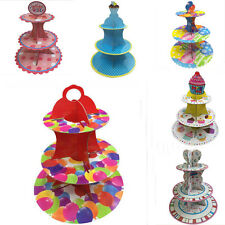 3 Layer Cupcake Round Cake Stand Wedding Birhtday Party Decoration