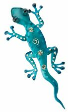 Decorative Metal Gecko Wall Plaque Reptile Lizard Hang Art Tropical Southwest
