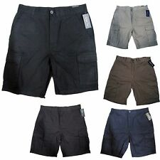 NWT Men's Six Pocket Cargo Shorts Black Navy Khaki Olive Grey 32 34 36 38 40