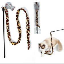 Pet Dog Kitten Cat Teaser Wand Dangler Chaser Rod Interactive Toy with Bell 1m