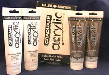Daler Rowney Graduate Acrylic Paint 120ml Tubes.  Raw Umber Only