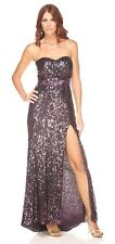 Shimmer Bari Jay Purple Sequin Strapless Gown