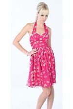 French Connection Pink Kiss Lady Laguna Silk Halter Dress NWT