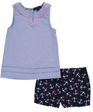"Nautica Little Girls' Toddler ""Lake Shore"" 2-Piece Outfit (Sizes 2T - 4T)"