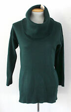 NWT Cable & Gauge Womens Turtleneck Cowl Neck Sweater Forest Pine Green Sz S $60