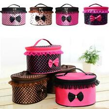 Women Bow Makeup Cosmetic Bag Travel Toiletry Case Pouch Handbag Beauty Box Case