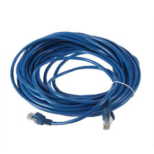 50FT RJ45 CAT5 CAT5E Ethernet Network Lan Router Patch Cable Cord Blue OE
