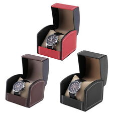 Display Case Gift Box For Watch Jewelry PU Leather Watch Box OH