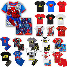 2pcs Cute Kids Baby Boys Girls Short Sleeve Tops+Pants Set Cartoon Outfits 2-8T