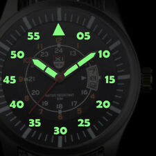 Military Mens Stainless Steel Watch Luminous Dial Date Luxury Sport Wrist Watch