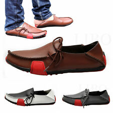 Mens Summer Casual Really Leather Loafers Moccasin Driving Shoes Soft Loafers