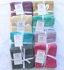 ONE PACK OF 3 FACE TOWEL Flannels Wash Cloths 100% Cotton- Gift Packed 30 x 30cm