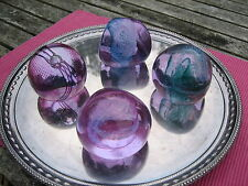 CAITHNESS GLASS PAPERWEIGHTS LARGE x 4 LOVELY 3 PEBBLE & 1 TOPSPIN