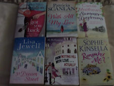 COLLECTION OF 6 x CHICK LIT PAPERBACK BOOKS - LISA JEWELL, SOPHIE KINSELLA