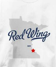 Red Wing, Minnesota MN MAP Souvenir T Shirt All Sizes & Colors