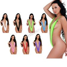 Women Swimwear Micro Bikini Bra Mini V-string Thong Slingshot One Piece Monokini