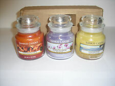YANKEE Candle Discoloured Small Jars Cinnamon Stick,Honey Blossom,Ginger Dusk
