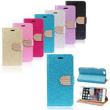 Mobile Phone Protective Case Samsung Glitter Pouch Rhinestone Book Cards Flip S