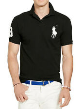Polo Ralph Lauren Custom Fit Big Pony Short Sleeve Polo Shirt, BLACK, ALL SIZES