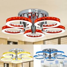 Chrome Modern Style LED Acrylic Chandeliers Ceiling Lamp 5 Colors w/ 5 Lights US