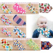 Baby Newborn Infants Kids Towel Saliva Lunch Bibs Cartoon Cotton Bandana Scarf