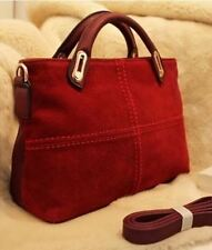 New Handbags Vintage Classic Leather Women Red Totes Shoulder Bag
