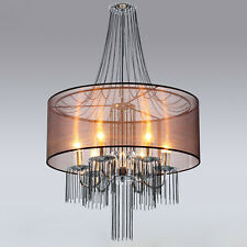 Chandelier with Semi-Transparent Shade Modern Ceiling Lights Candelabra Fixture