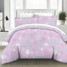 Modern Butterfly Girls Pink Cotton Printed 4-PC Comforter Set Full Queen Twin