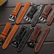 22mm Genuine Leather Watch Band Wrist Strap For Moto 360 2nd Gen Mens 46mm +Tool